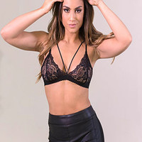 Day And Night Black Lace Bra