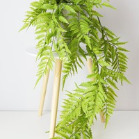 "UV Protected Fake Boston Fern Hanging Plant - 50"" Long"