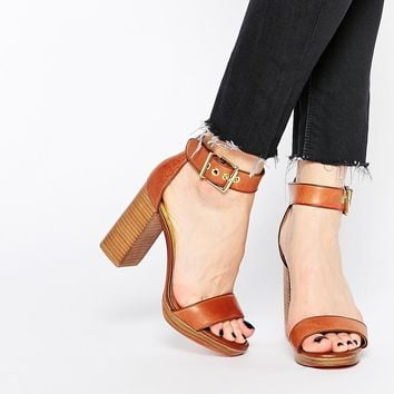 Ted Baker Lorno Leather Block Heel Sandals