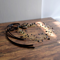 QUEEN Margaret - black and gold hair crown