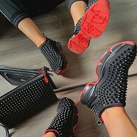 Christian Louboutin Man Women Casual Breathable Stylish Sneakers