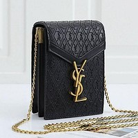 Yves Saint Laurent YSL Shopping Bag Leather Chain Crossbody Shoulder Bag Satchel