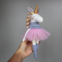 Baby Unicorn Doll Unicorn plush Unicorn stuffed animal Unicorn Party Unicorn toy Stuffed unicorn Unicorn birthday Unicorn rag doll