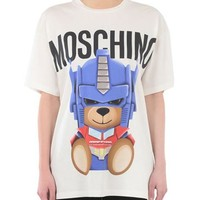 "Hot Sale Moschino ""Transformers Bear"" Fashion Women T Shirt Loose Short Sleeves"