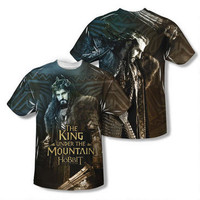 The Hobbit: The Battle of the Five Armies Thorin the King Adult Sublimation Print T-shirt |