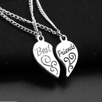 Best Friends I Love You to the Moon and Back Pendant Chain Necklace Handmade Fashion Jewellery Gift For Women Necklace