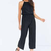 Silence + Noise Accordion Pleat Culotte Jumpsuit - Urban Outfitters