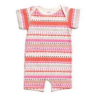 Pink Stripes Organic Romper by Winter Water Factory