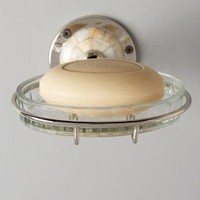 Candescent Soap Dish by Anthropologie in Nickel Size: Soap Dish Bath