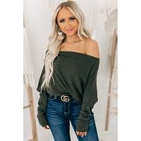 Better With You Off The Shoulder Top (Olive)