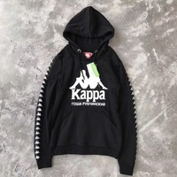 Kappa x Gosha Woman Men Fashion Hooded Top Sweater Pullover Hoodie-2