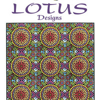 Creative Haven Lotus Designs Coloring Book