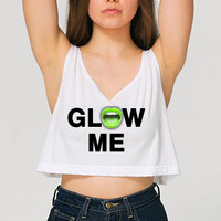 Rave Clothes - Save Water Spray Champagne - Womens Neon Crop Tanks - Bad Kids Clothing   Bad Kids Clothing