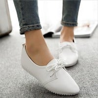 CPI Women casual shoes 2018 spring and summer shoes, flat shoes wild, pure light color mouth female shoes YJ-67