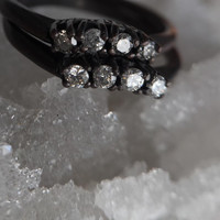 Curved Diamond Band Ring in your choice of metal