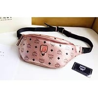 MCM Classic Vintage Print Multifunction Chest Bag Waist Bag Crossbody Bag 4#