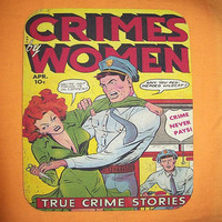 Comic book mouse pad vintage 1950's true crime comic retro pin up girl rockabilly kitsch