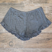 Sunny Out Ruffle Shorts - Grey