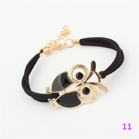 Multi-style Hmade Bracelets Anchor Rudder Design Owl Leaf Bird Compass Love Heart For Women Men Alloy Wrap Charms Bracelet