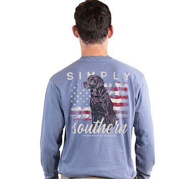 Simply Southern USA Lab Unisex Comfort Colors Long Sleeve T-Shirt