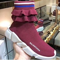 BALENCIAGA Speed stretch-knit high-top sneakers 5 colors-2