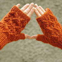 Lace fingerless gloves, knit wool arm warmers, wrist warmers, romantic gloves, lace gloves, hand warmers, armwarmers, handknitted, gloves