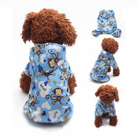 Pet Dog Hoodie Hooded Rain Coat Clothes Dogs Puppy Casual Waterproof Jacket Hot