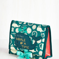 Nautical Fare Thee Whale Makeup Bag by Disaster Designs from ModCloth