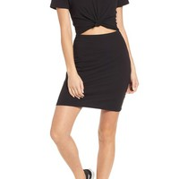 Socialite Knot Front Cutout T-Shirt Dress | Nordstrom