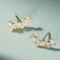 Abstract Crystal Stud Earrings
