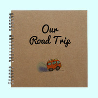 Our Road Trip - Book, Large Journal, Personalized Book, Personalized Journal, , Sketchbook, Scrapbook, Smashbook
