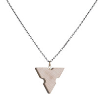 Wooden architects' scale slice pendant