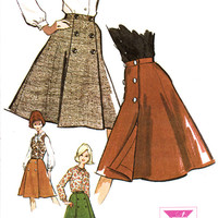 """1960s Misses Wrap Skirt Blouse and Vest McCall's 7015 Womens Vintage Sewing Pattern Bust 34"""""""