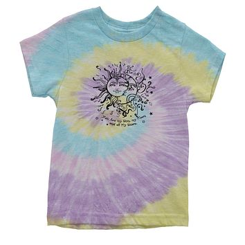 You Are My Sun, My Moon, My Stars Youth Tie-Dye T-shirt