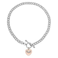 Juicy Couture Heart Toggle Necklace (Pink)