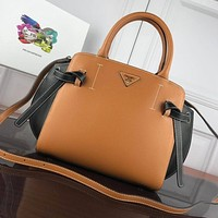 prada women leather shoulder bags satchel tote bag handbag shopping leather tote crossbody 316