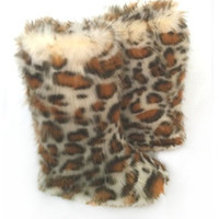 Fluffy Wuffies Outdoor Cheetah/leopard boots/booties