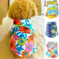 PanDaDa Dog Cat T Shirt Pet Clothing Shirt Puppy Clothes Summer Apparel Beac...