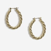 Rope Twist Hoop Earrings | Topshop