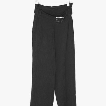 Belted Pleated High Waist Pants