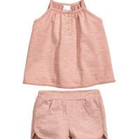 Cotton Dress and Shorts - from H&M