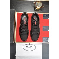 prada men fashion boots fashionable casual leather breathable sneakers running shoes 211