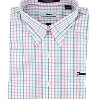 Button Down in Pink Multi Check by Country Club Prep