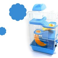 Recommended Goods Large Luxury Cages For Hamsters Transport Super Hamster Cage Accessories Guinea pigs House Pet SuppliesKennel
