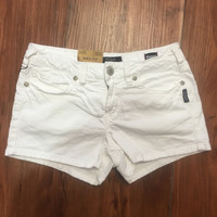 Silver Jeans Co. Aiko Mid Rise Shorts - White