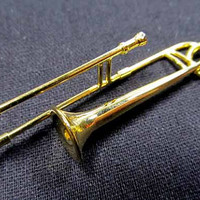 Trombone Necklace Trombonist  Instrument gold plated Miniblings Music Orchestra with Box