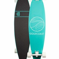 GOLDCOAST Classic Turquoise Pintail Longboard- AS IS | Longboards + Cruisers