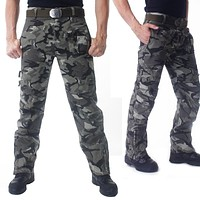 101 Airborne Tactical Pants Cotton Combat Breathable Multi Pocket Military Army Camouflage Cargo Pants Trousers For Men
