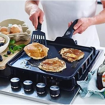 """GreenLife Diamond 11"""" Square Griddle"""