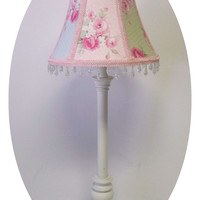 Pastel Slipper Roses fabric Shabby Chic Lamp Shade